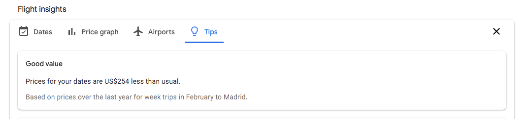 Google Flights - tips